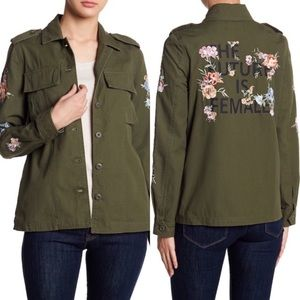 Coffee Shop The Future Is Female Military Jacket